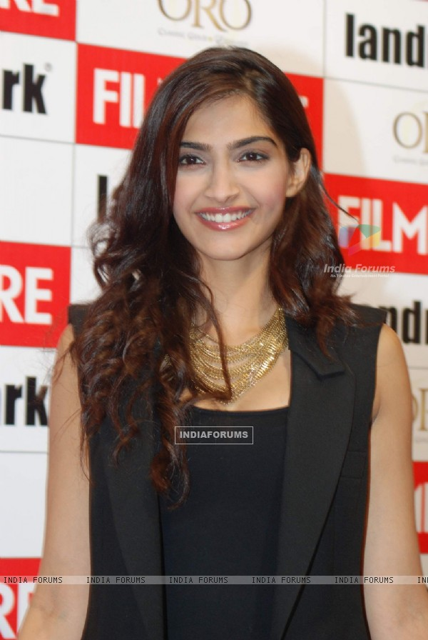 Actor Sonam Kapoor during the launch of Filmfare Magazine''s new edition in Mumbai on Wednesday, 23 June 2010
