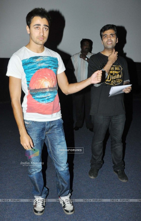Imran Khan and Karan Johar at Fame Malad