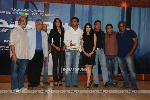 Red Alert film press meet with Sameera Reddy and Suneil Shetty at Raheja Calssic