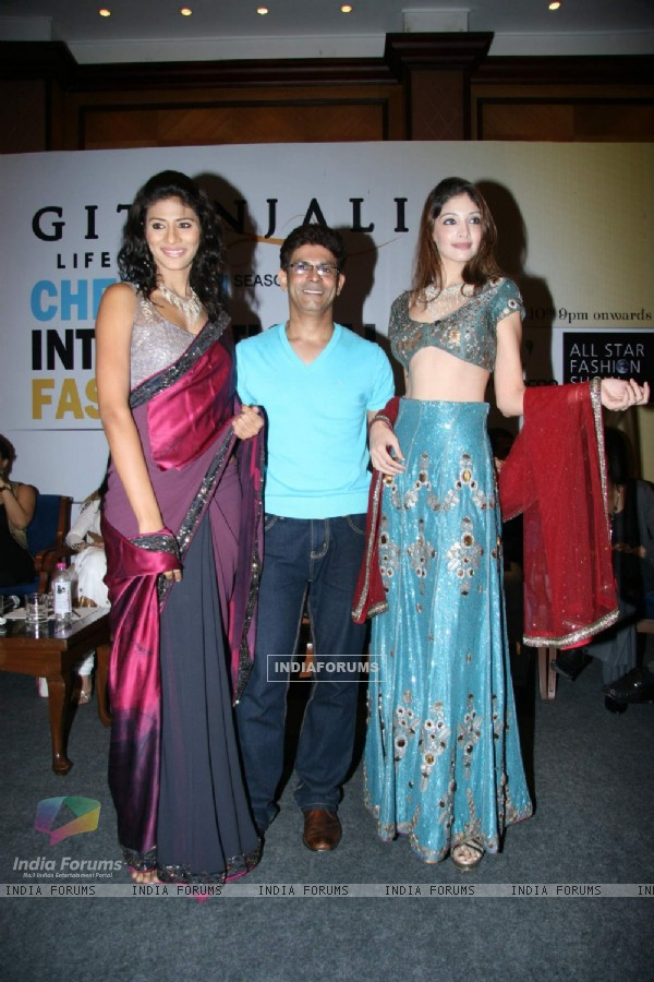 Chennai Fashion Week press meet with Top Models at Taja Land''s End