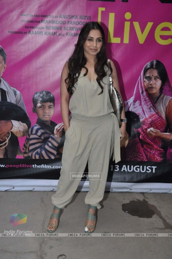 Rani Mukherjee at Peepli Live music launch