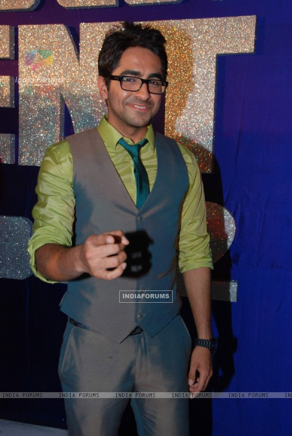 Ayushman Khurana during the press meet for the TV show