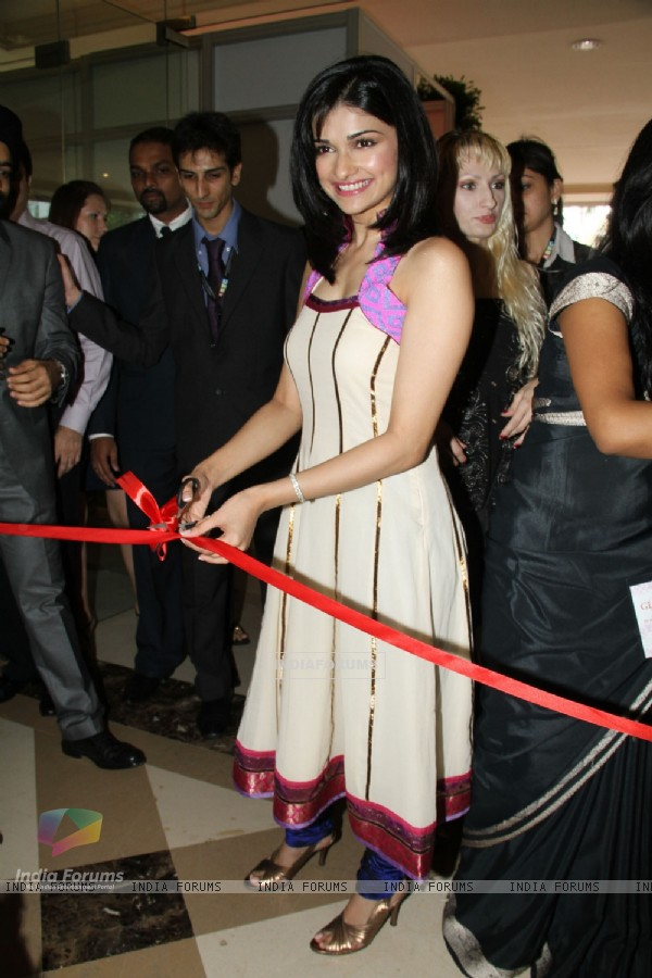 Prachi Desai launches the JW Marriott Glamour Show at Juhu, in Mumbai on Friday Afternoon
