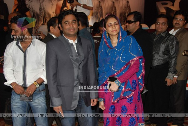 A.R. Rahman at Robot music launch at JW Marriott