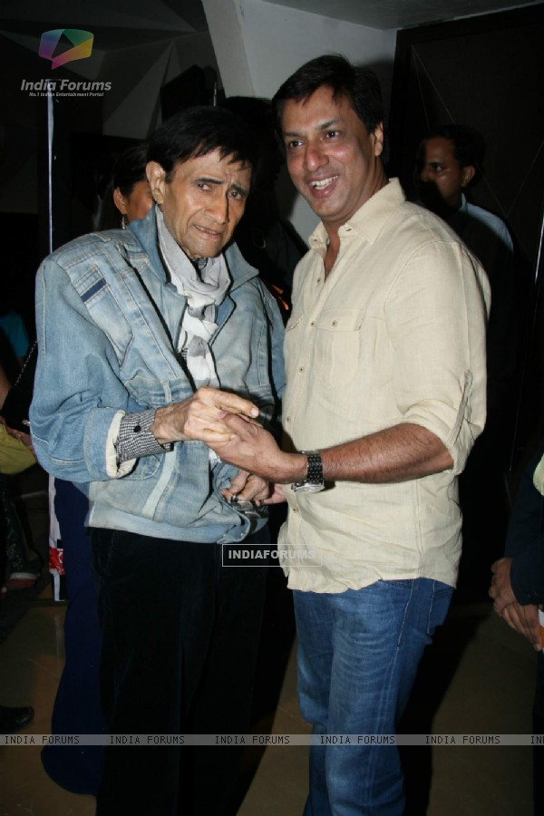 Dev Anand and Madhur Bhandarkar at Guide film screening at PVR, Goregaon