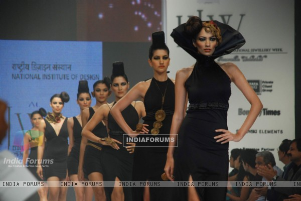 Five students from the National Institute of Design created magic on the ramp with brilliant collections at the India International Jewellery Week