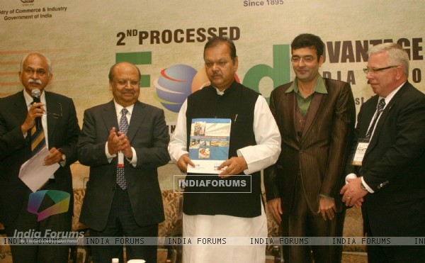 Minister of Food Processing Industries subodh Kant Sahai at ''''2 nd Processed Food-Advantage India''10 ''Positioning India as a Food Factory of the World'', in New Delhi on Monday