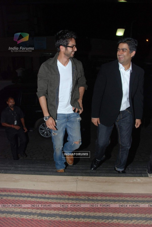 "Shahid Kapoor at ""we are Family"" screening at Cinemax"