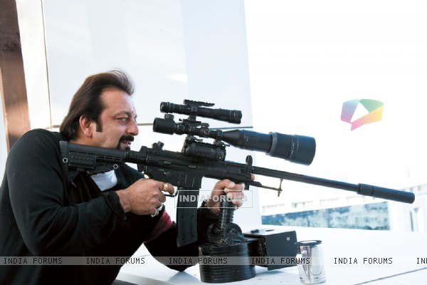 Sanjay Dutt with a rifle