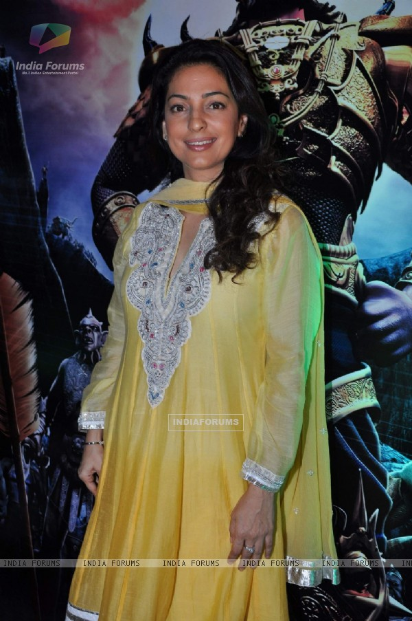 Juhi Chawla at Ketan Mehta's Ramayana press meet at Courtyard Marriott