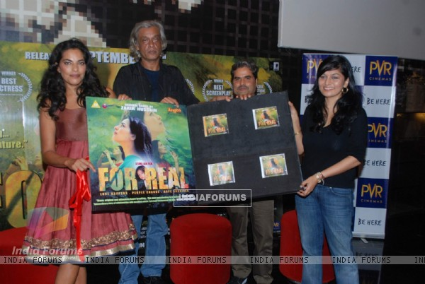 Sarita Chaudhary, Sudhir Mishra, Vishal Bharadwaj and Sona Jain at the music launch of For Real film at PVR, Juhu