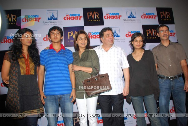 Rishi and Neetu Kapoor at Do Dooni Chaar Press Conference at PVR (97116)