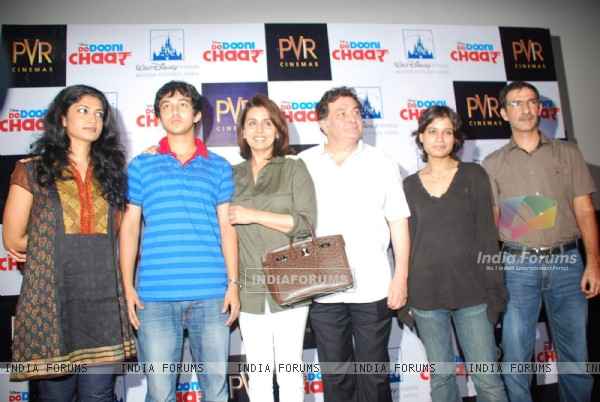 Rishi and Neetu Kapoor at Do Dooni Chaar Press Conference at PVR (97118)