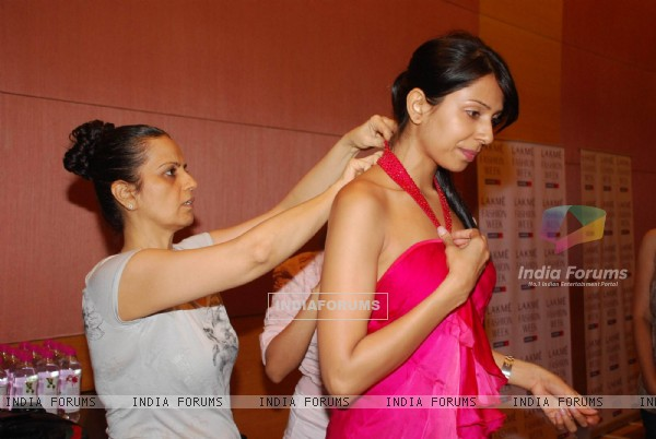 Lakme Fashion week fittings at Grand Hyatt