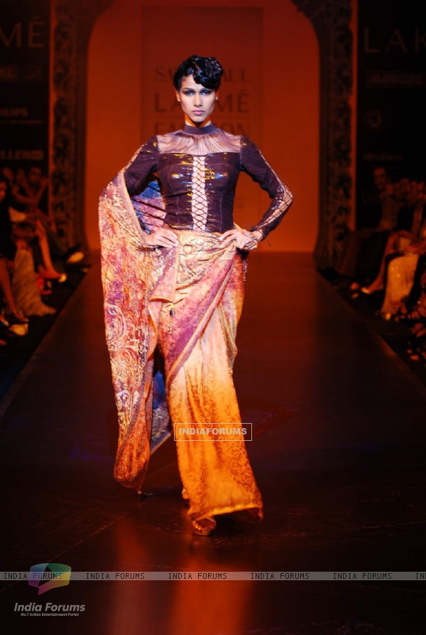 Satya Paul's creation at the Lakme Fashion Week