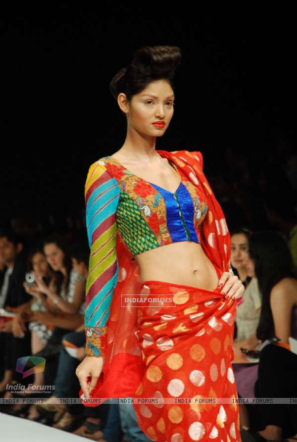 Purvi Doshi's creation at the Lakme Fashion Week