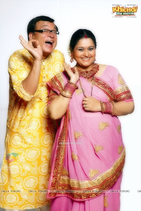 Rajeev Mehta and Supriya Pathak in the movie Khichdi - The Movie