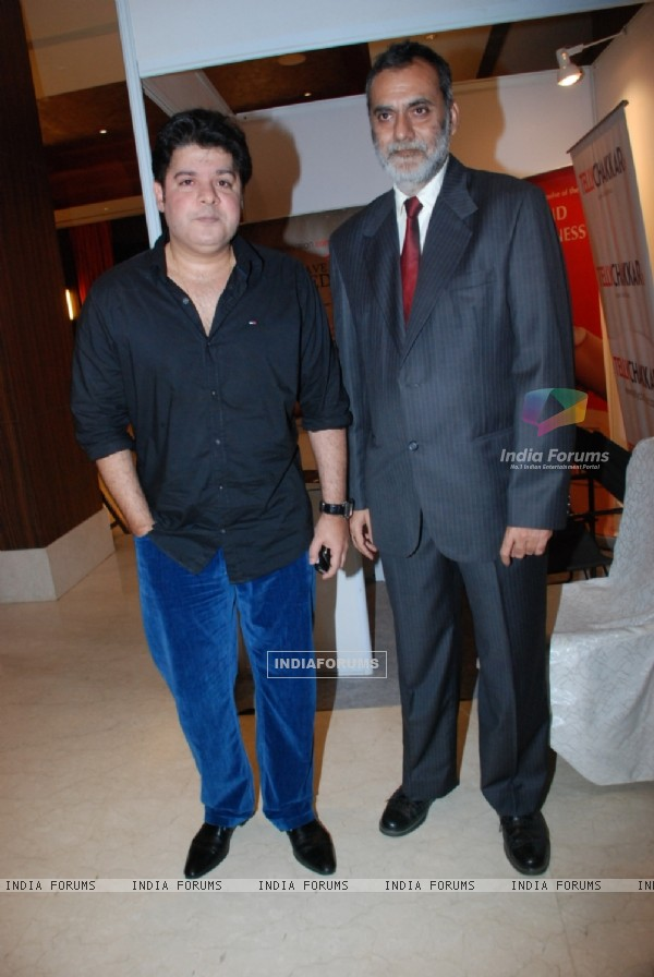 Sajid Khan with Sudhanshu Hukku at Locations Awards' party at Novotel