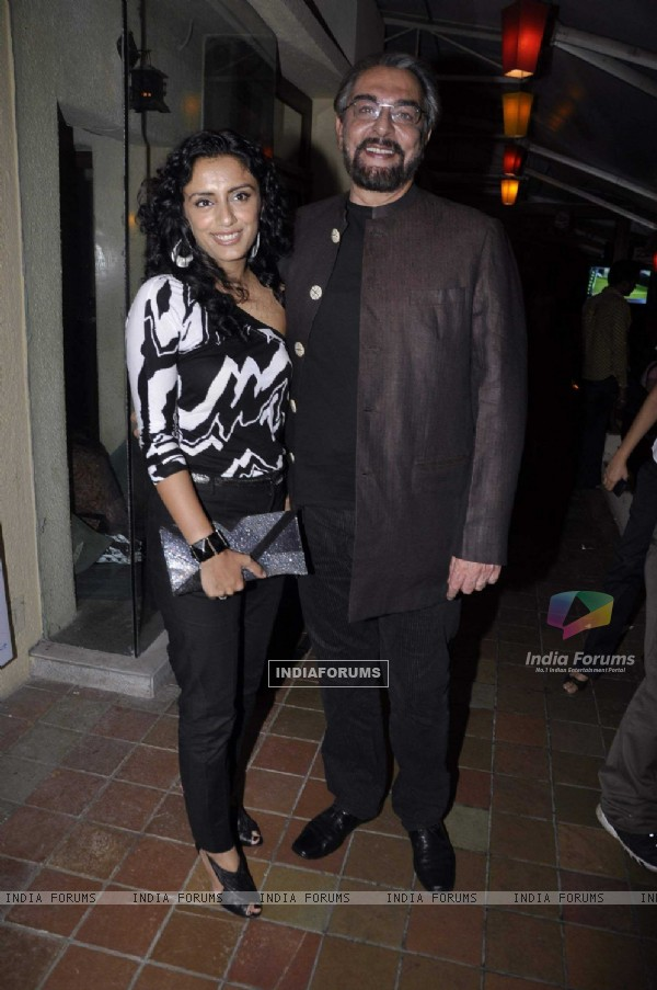 Kabir Bedi at  Pankaj Parashar's painting exhibitionn at Out of the Blue, Bandra, Mumbai, Wednesday Night
