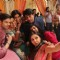 Diya aur Baati Hum cast posing for a Selfie during the shoot of Godh Bharai sequence of Meenakshi