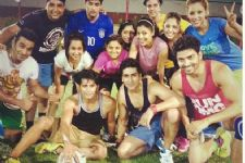 Tellystars who love playing sports
