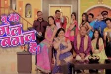 Ganesh Chathurti celebrations on the sets of Tu Mere Agal Bagal Hai!