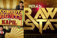 Happy Ending cast on the sets of Comedy Nights and India's Raw Star!