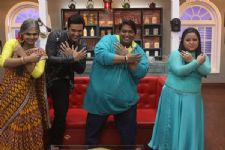 Ganesh Acharya and Laxmi on the set of Comedy Classes