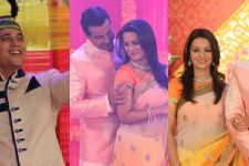 Ronit Roy and Pallavi Kulkarni have a blast shooting the Sangeet sequence