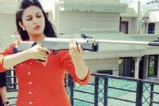 Divyanka enjoys adventurous shoot for a TV show!
