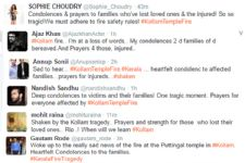 TV Celebs express their condolences on the Kollam Temple tragedy..