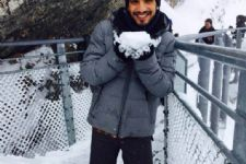 Arjun Bijlani on Cloud 9 in minus 6 degrees!