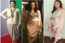 #Stylebuzz: Darling Divas Slaying The Dhoti Drape Silhouette