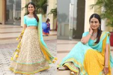 #Stylebuzz: Surbhi's Sparkling Lehenga is the BLING You Need for the Wedding Season!