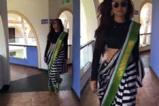 #Stylebuzz: Drashti Dhami Stuns In A Striped Saree Like A Complete Diva
