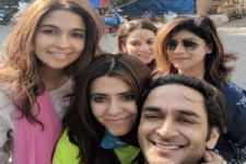 Ekta Kapoor and Harleen Sethi seek blessings from Siddhivinayak for 'Broken But Beautiful'