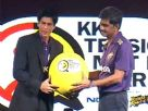 Shah Rukh Khan at the KKR-Nokia tie-up Media Meet
