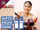Surbhi Chandna receives gifts from her fans Video
