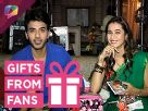 Vikram Singh Chauhan and Shivani Surve receive gifs from fans Video
