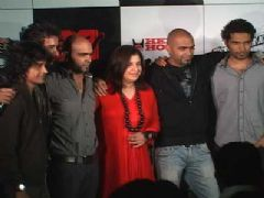 Farah Khan, Rannvijay, Raghu and Rajiv at MTV Roadies promotional event