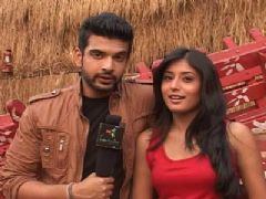 Interview with Karan Kundra and Kritika Kamra on the Sets of Kitani Mohabbat Hai 2 - Part 01