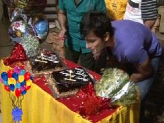Karan Tacker Celebrated his Birthday with Cast on the set of Rang Badalti Odhani