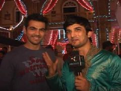 Karan introduces his Diwali special guests...