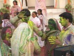 Holi Celebration on the sets of Navya