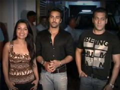 Salman Khan at Bitto Boss special screening