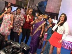Kareena on the set of Tarak Mehta ka Ulta Chasma