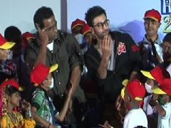 Ranbir Kapoor at Tata Memorial Hospital With Cancer Patients