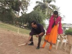 Tota and Maina playing Gilli-Danda