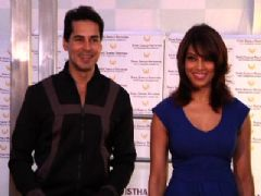 Bipasha launches Dino Morea's fitness brand DM