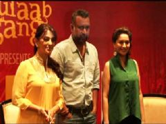 Juhi Chawla Madhuri Dixit and Anubhav Sinha at Launch of Believe campaign